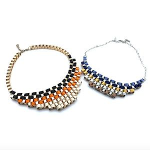 Two Adjustable Statement Necklaces